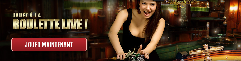 Roulette en direct sur le casino 7 Red !